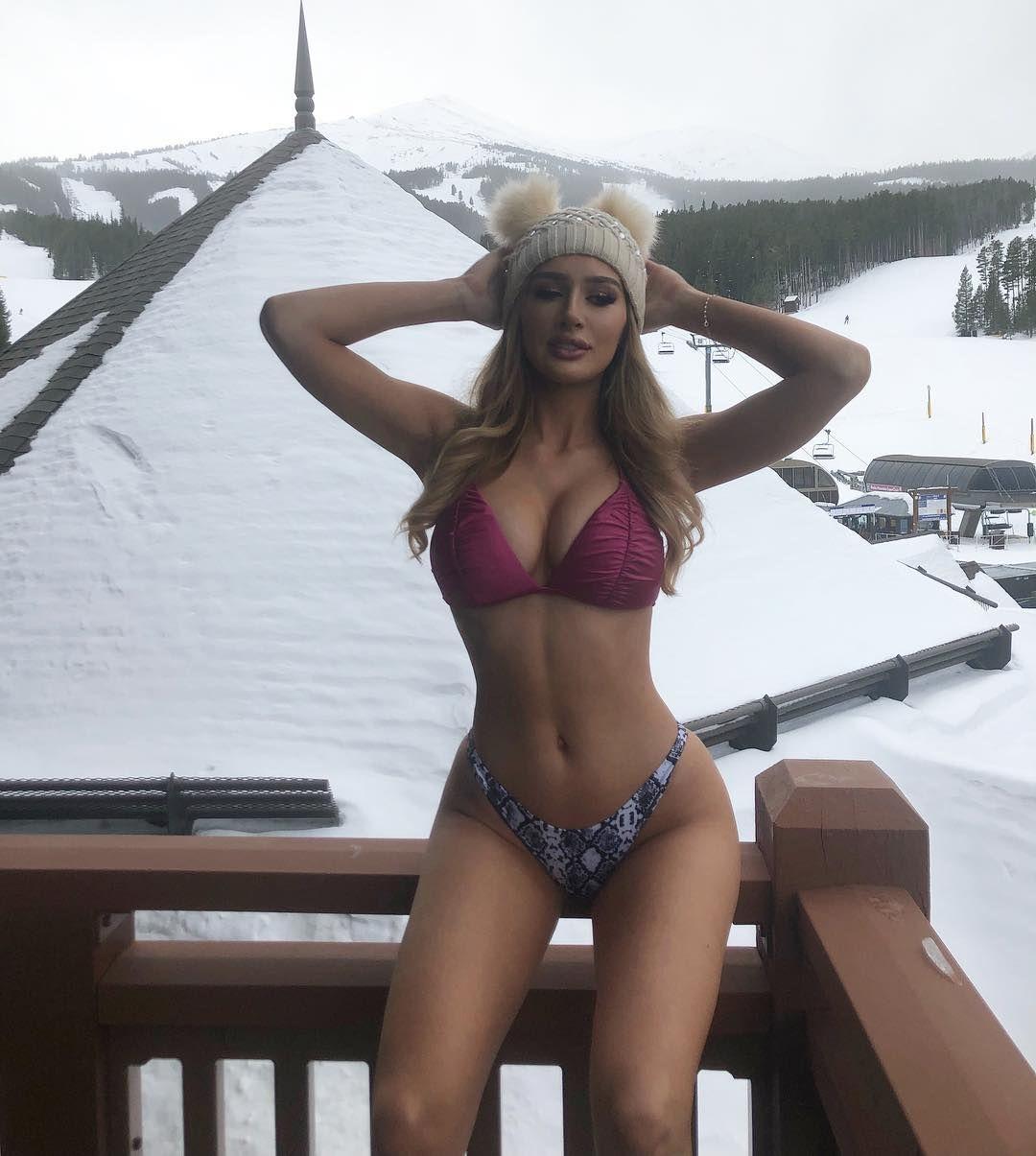 Matchless freezing cold bikini model really