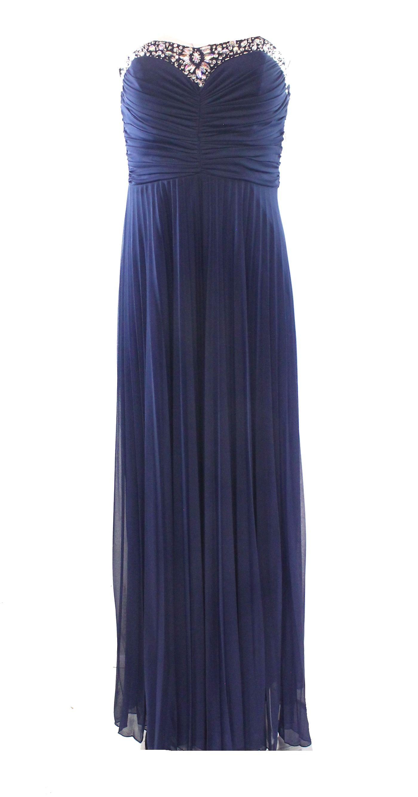 B. Darlin NEW Blue Navy Embellished Size 7/8 Junior Sheath Ruched Dress $99