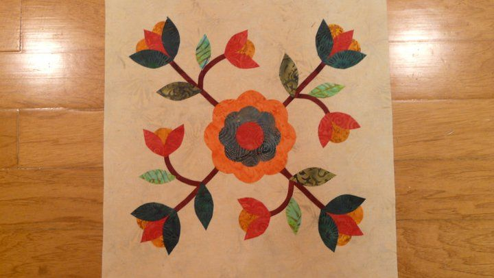Rose Of Sharon Quilt Block 3 Quilting Applique Quilts
