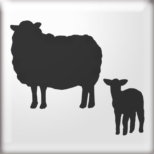 silhouette of sheep - Google Search | Sheep silhouette ...