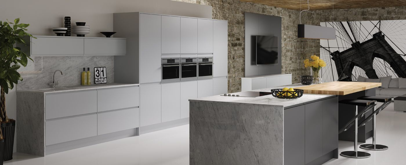 Contemporary Kitchen Grey Easy Ways To Share Your New Kitchen Dreams  Jewson Kitchens