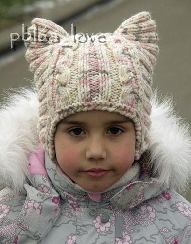 котошапка головные уборы детям вязание вязание детское