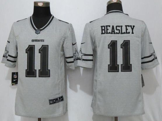 detailed look 8934f e90ff Mens Nfl Dallas Cowboys #11 Cole Beasley Gridiron Gray Ii ...