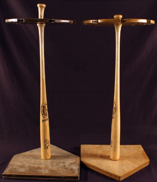 Baseball Bat Rack Lot Of 2 Floor Standing Louisville
