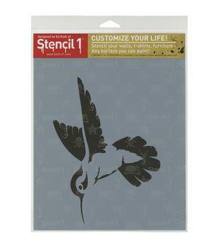 Stencil 1 Hummingbird Stencil 8.5''x11''