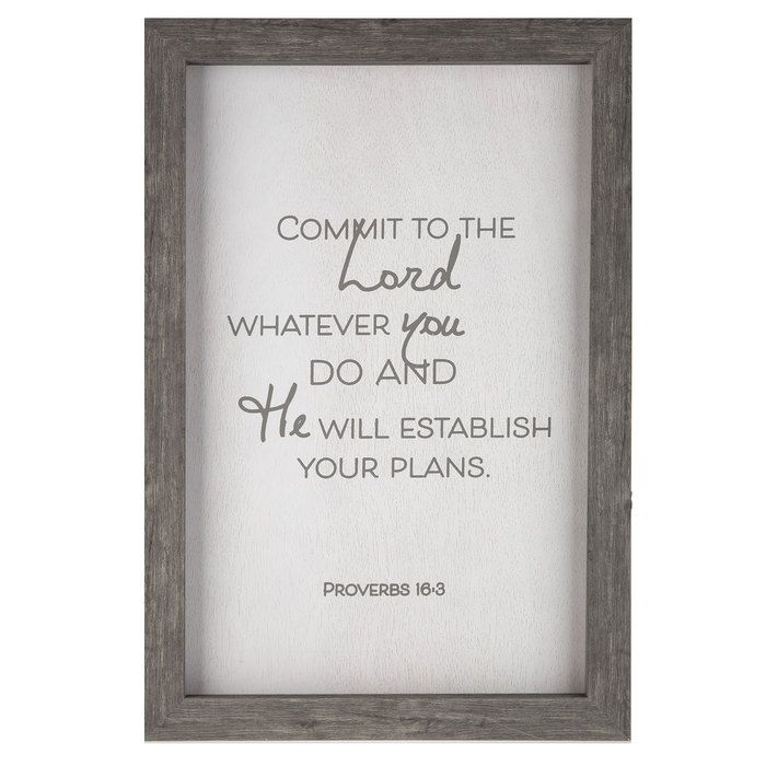 Proverbs 16:3 Wood Wall Decor $39.99 | h o b b y l o b b y ...