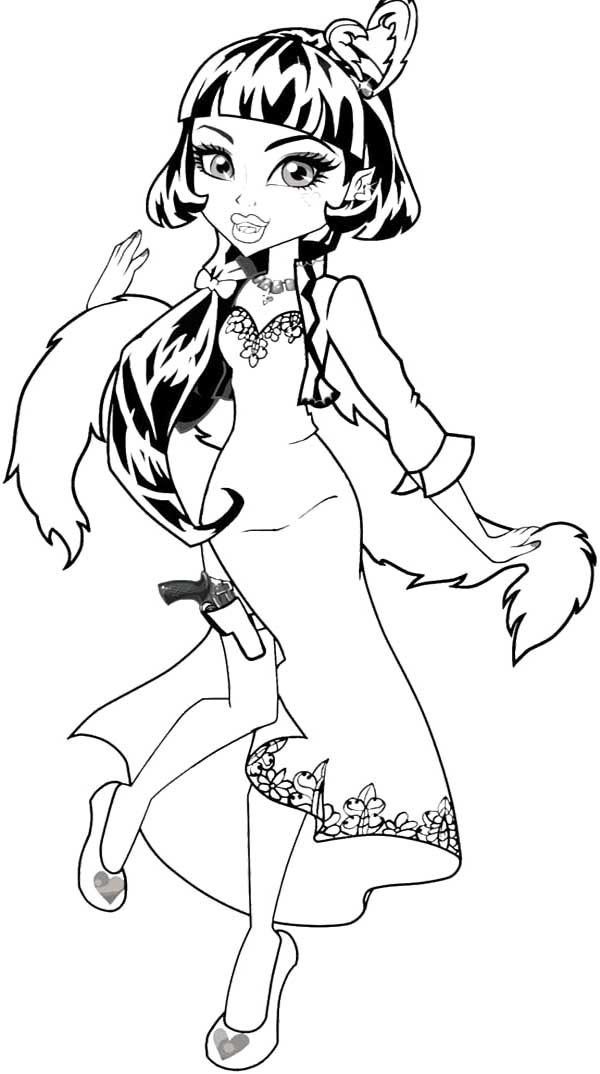 Draculaura Coloring Page