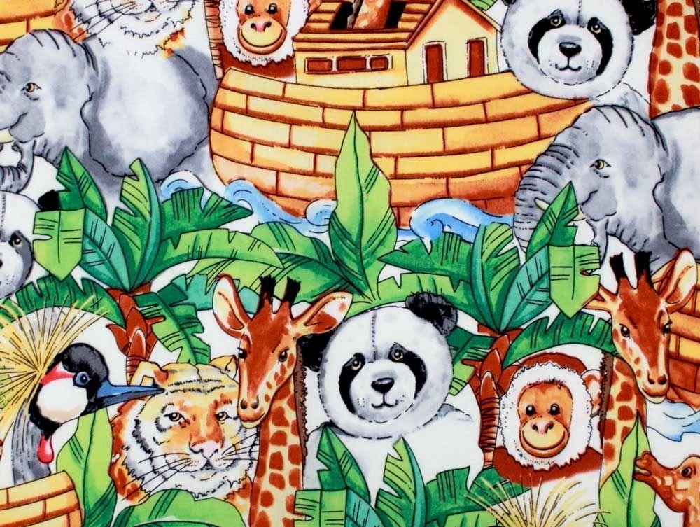 Baumwollstoff Panda, Giraffe & Co. bei stoffe-hemmers.de