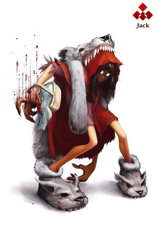 Картинки волк и красная шапка