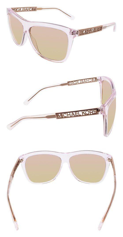 7c9dff7d7f52 $87.8 - Michael Kors 0MK6010 Sun Full Rim Square Womens Sunglasses Light  Pink Rose Gold Flash #michaelkors