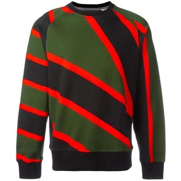 House Of Holland x Umbro striped sweatshirt ($115) ❤ liked