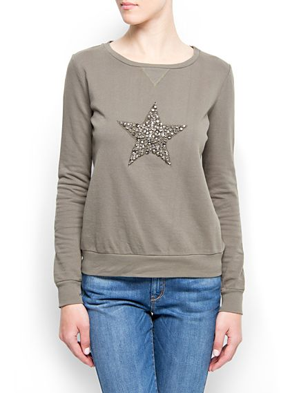 MANGO - Crystal embellished sweatshirt