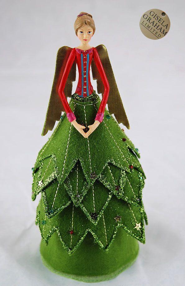 weihnachten gisela graham weihnachtsbaumspitze engel. Black Bedroom Furniture Sets. Home Design Ideas