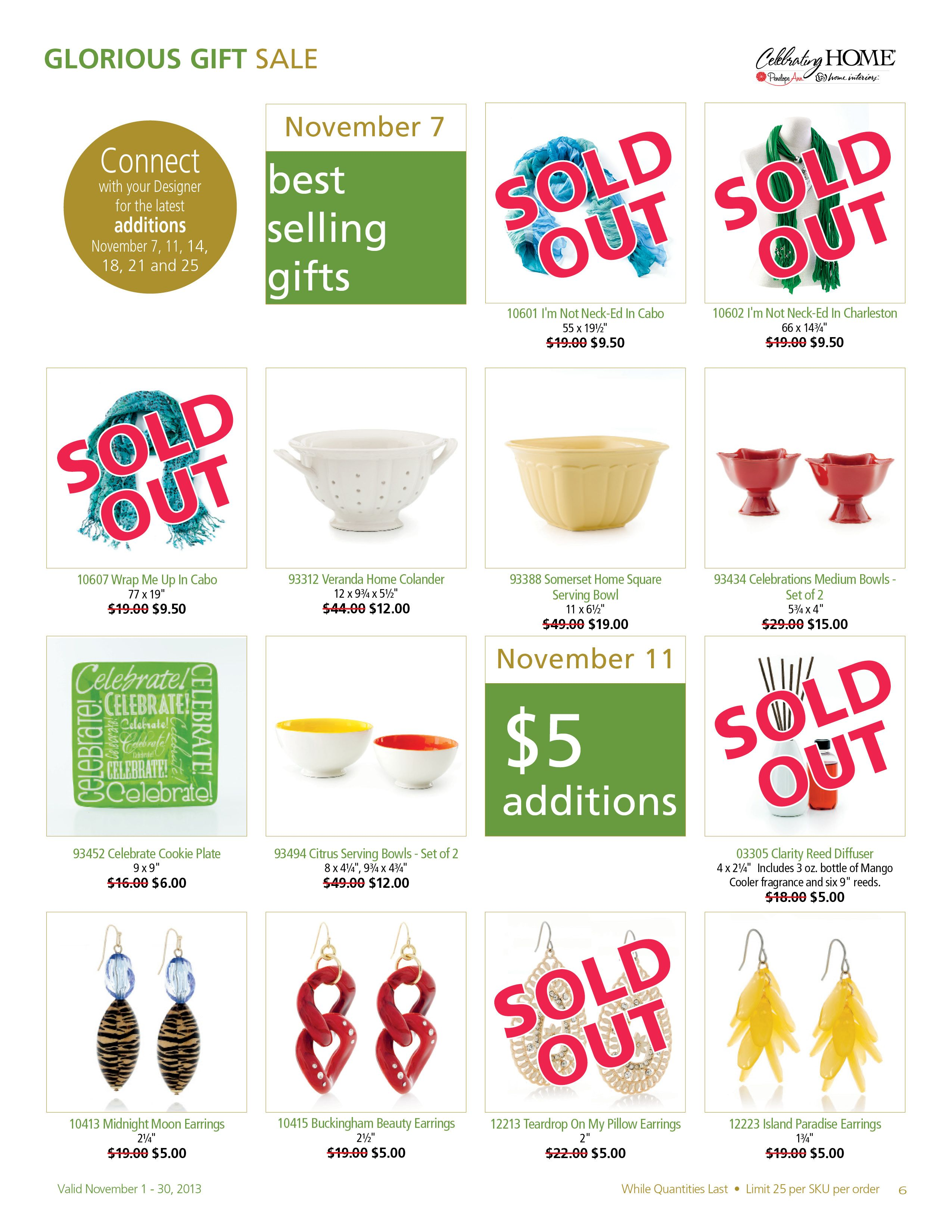 UPDATE| Glorious Gift Sale November 2013| Celebrating Home| Designer  Jessica Horton Baltimore,