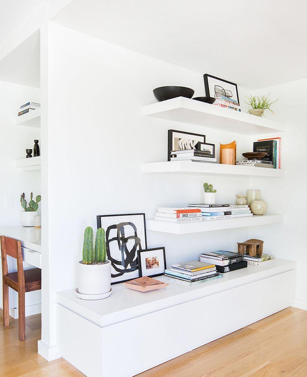 Best 20 DIY Corner Shelf Floating Home Interior Design ...