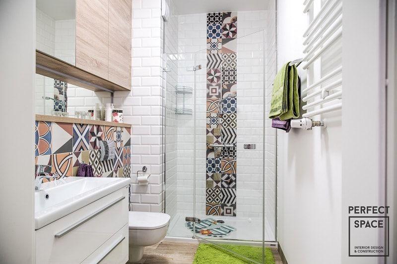 Aranżacja Wnętrza łazienki Z Wykorzystaniem Wzorzystych