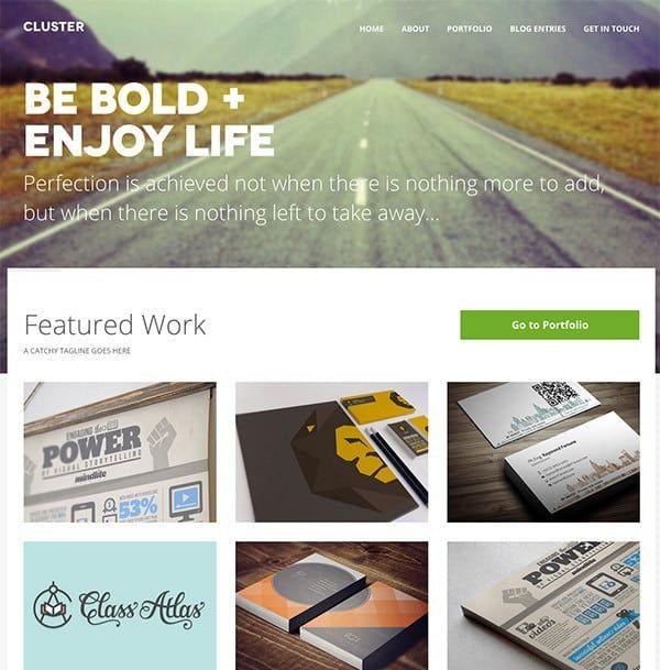 Le template WordPress Cluster WEB DESIGN Pinterest Wordpress