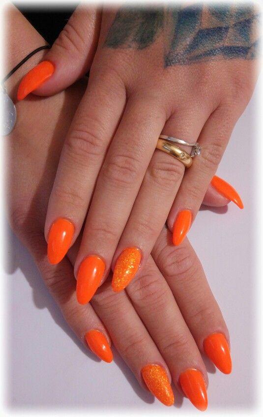 arancione fluo (fluo papaya)glitter Gioielli, Anelli, Moda, Nail Art,