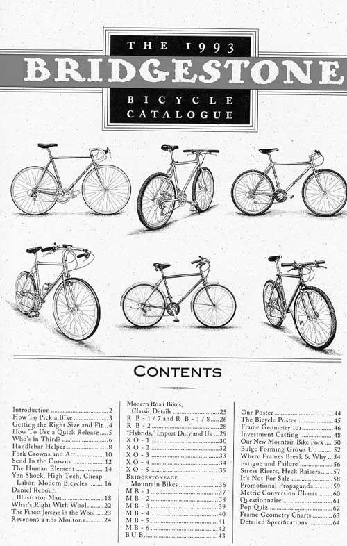 1993 Bridgestone Bicycle Catalog Illustrations By George Retseck