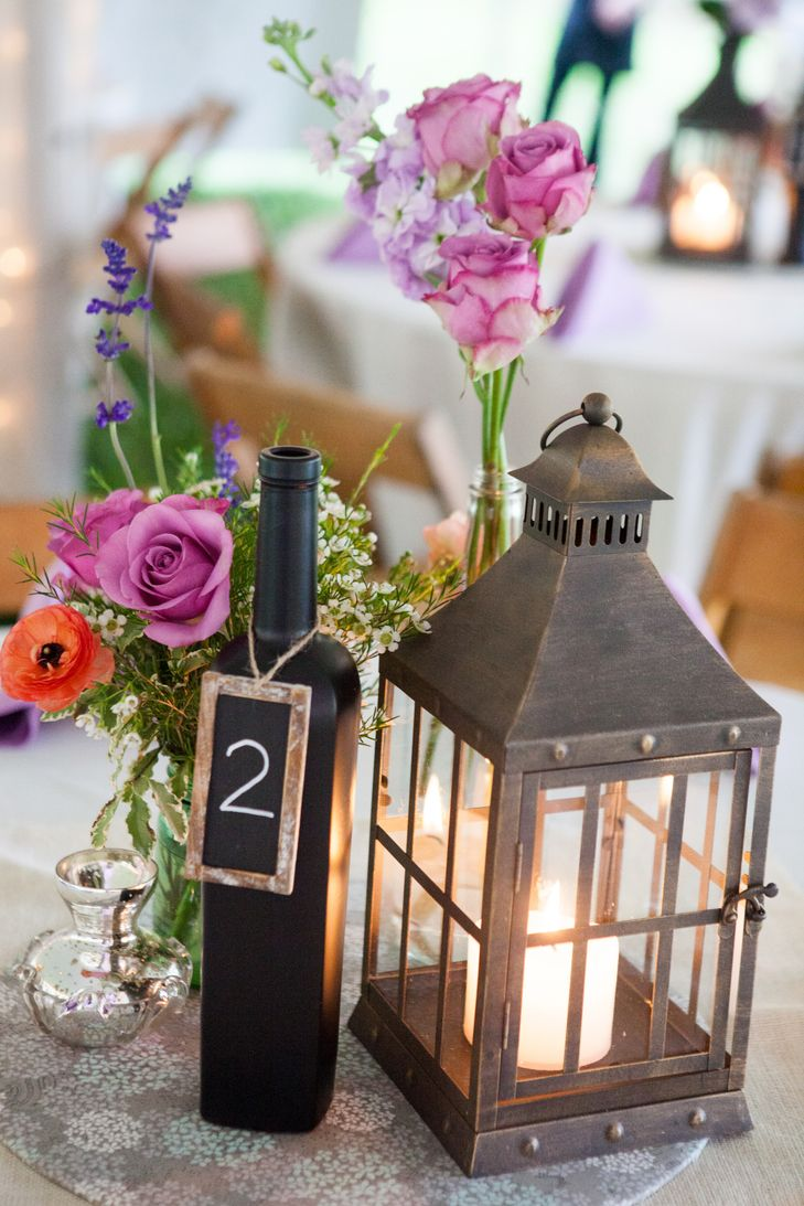 Wedding Table Wine Bottle Wedding Table Decorations table number wine bottle gold wedding centerpiece reception decor need ideas check out this lantern and chalkboard centerpieces see more inspirational photos on