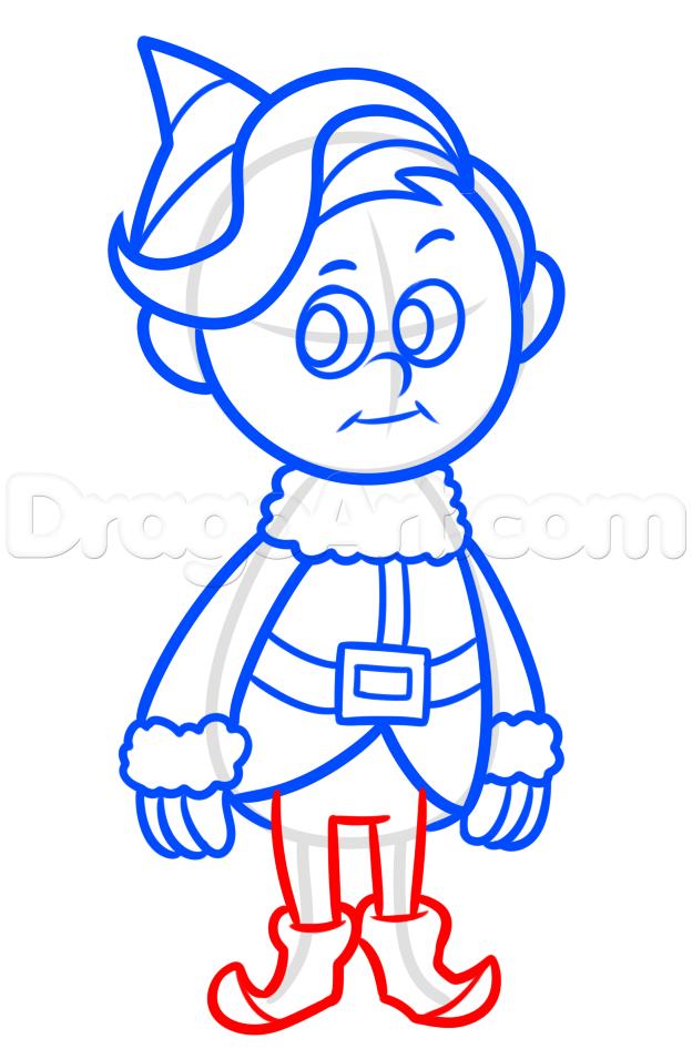 how to draw hermey, hermey the elf step 7 | CMC window IDEAS
