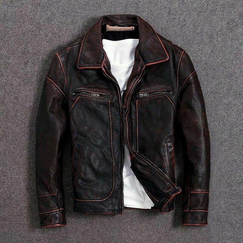 My Ebay Active In 2020 Leather Jacket Men Leather Jacket Black Genuine Leather Jackets