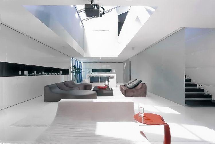 Minimalistisch Wohnen in Schwarz und Weiß in einem Altbau Pinterest