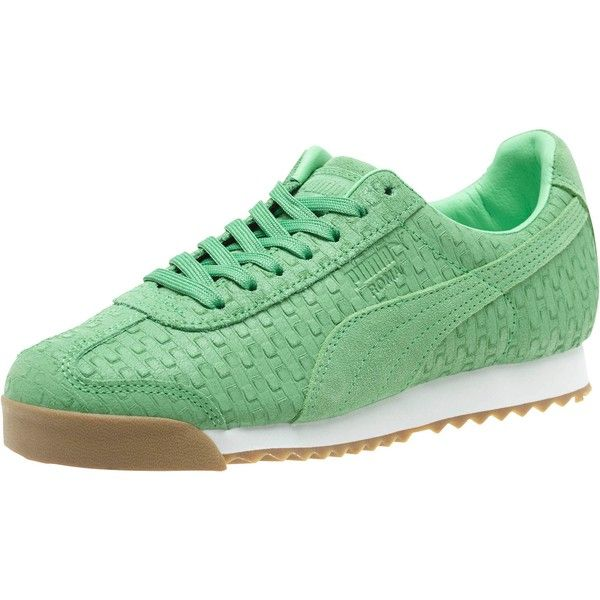 Puma Roma Emboss Brick Women's Sneakers featuring polyvore, women's  fashion, shoes, sneakers,