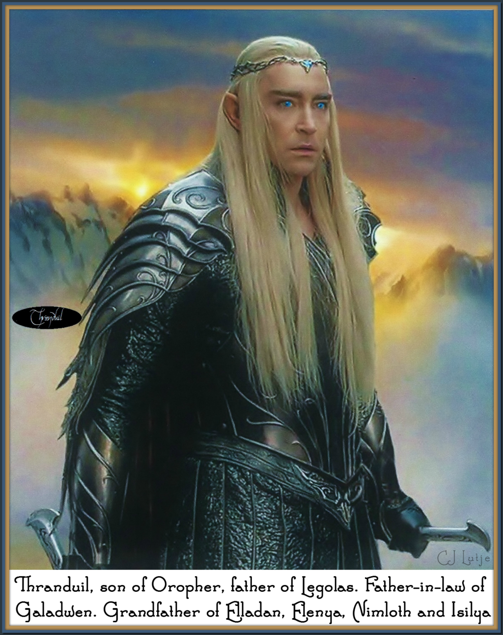 Thranduil son of Oropher, father of Legolas ... by cjlutje ...