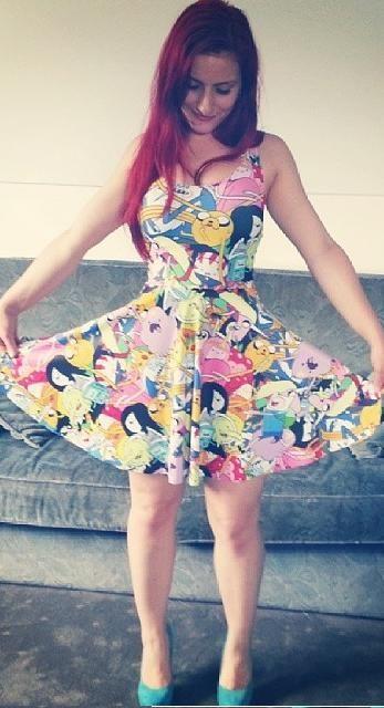 Cheap Black Milk Adventure Time Dress Bro Ball Reversible Skater Black Milk Dress