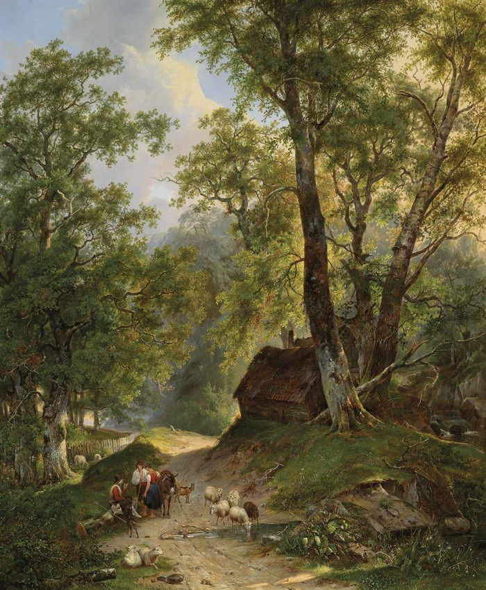 Art Canvas Print Classical Landscape Oil Painting Picture Printed On Canvas P314 Realism Landscape Art Painting Landscape Art Landscape Artist