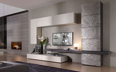 Su Outlet del Mobile arredamento living moderno e innovativo: parete ...