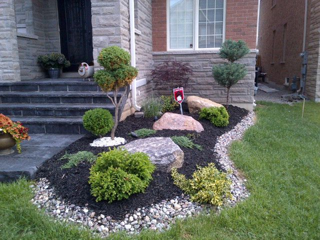 Front Yard Landscaping Ideas Toronto Google Search Landscape Design Front Yard Landscaping Design Landscaping With Rocks