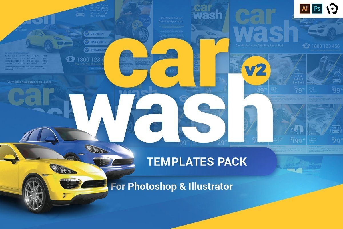 Car Wash Templates Pack Template Car wash, Car wash