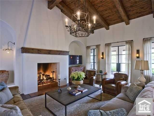 Mediterranean Fireplace  Rustic Fireplace  Cozy Fireplace Interesting Large Living Room Design 2018