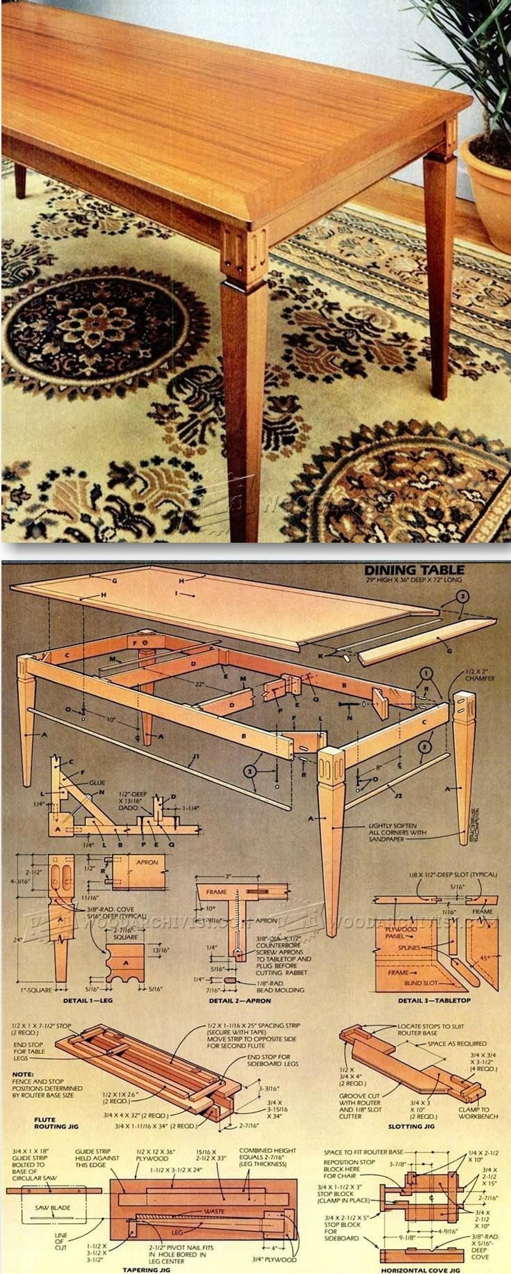 Dining Room Table Plans Furniture, Shaker Dining Room Table Plans