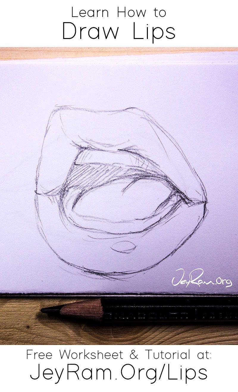 How To Draw Lips In 2020 Lip Tutorial Drawing Lips Drawing Lilly Flower Drawing