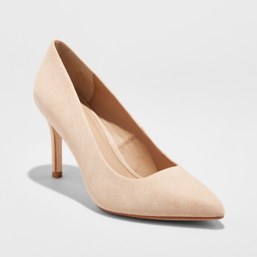 898368615 Women s Gemma Pointed Toe Pumps - A New Day Honey Beige 5.5 ...