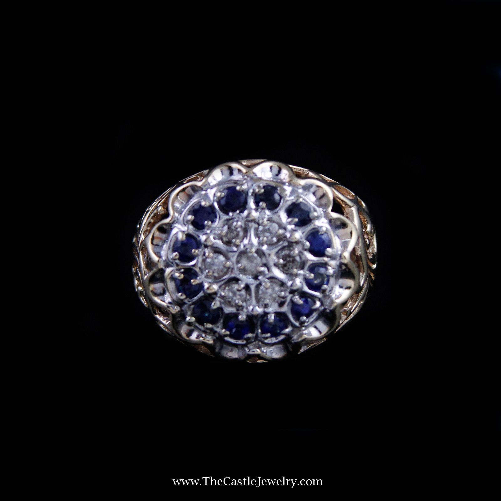 white gold designer carat in with tw diamonds mens michael of stud rose hill earrings sapphire