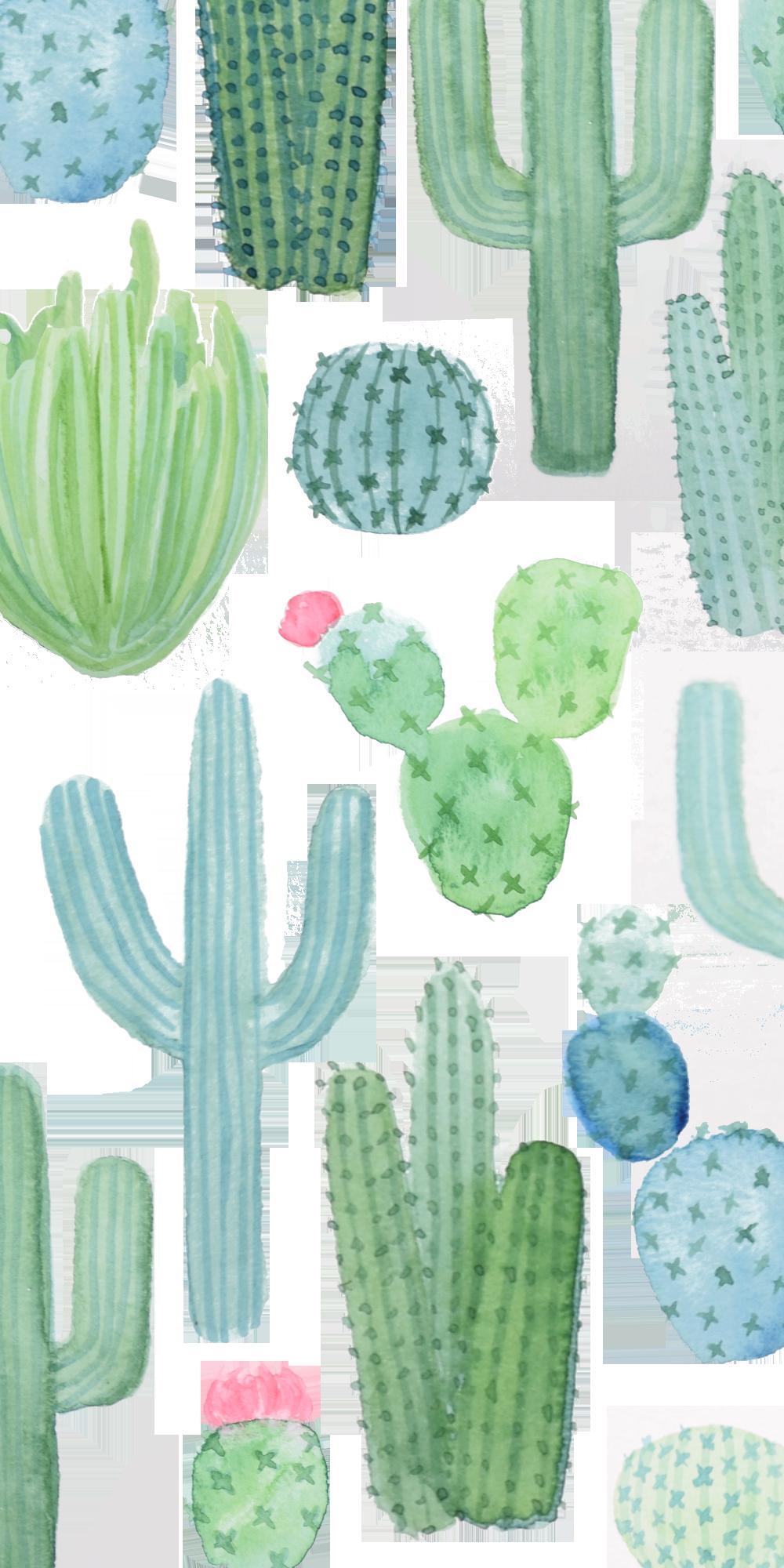 on sale 6fcd8 d6406 Glitter iPhone XS Case - Desert Cactus Garden // Watercolor Cacti in ...