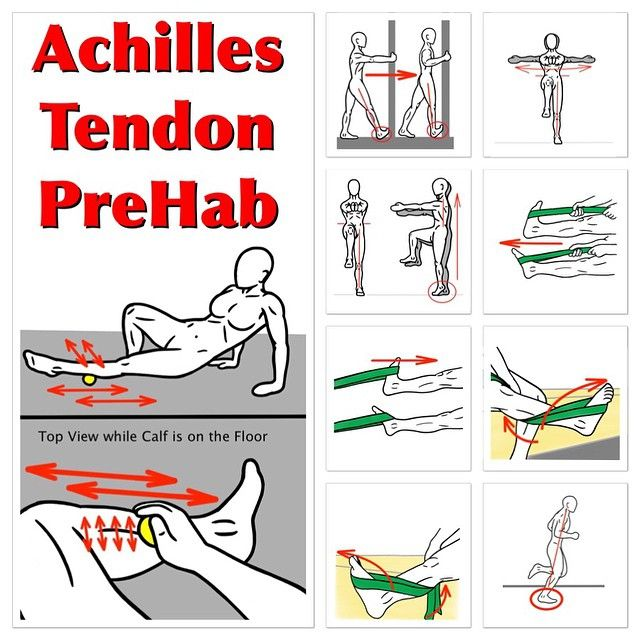 Looking For Prehab For The Achilles Tendon Here S A Sequence To Start With For Detailed Instructio Achilles Tendonitis Achilles Tendonitis Exercises Achilles