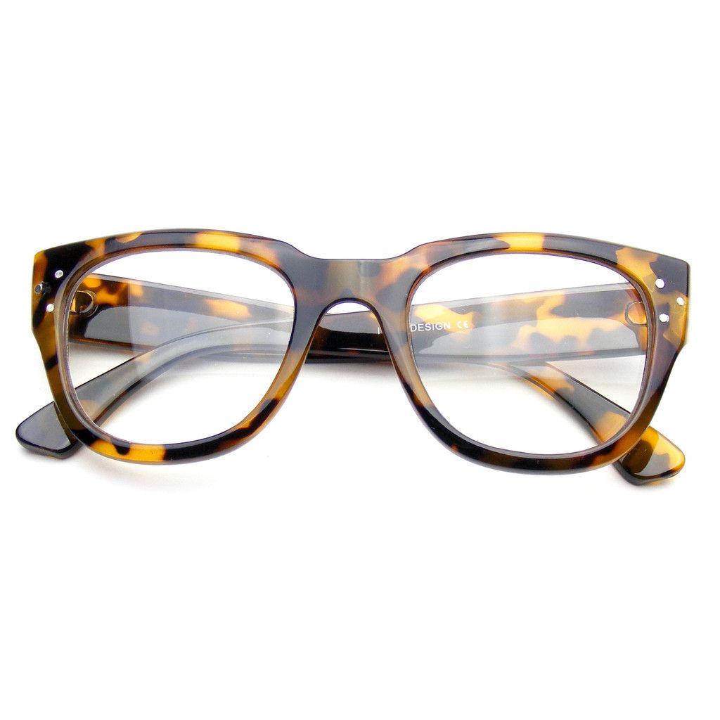 Premium Designer Horned Rim Fashion Clear RX Optical Dapper Glasses