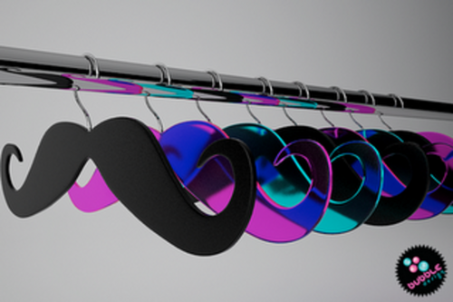 mustache hangers that look extremely effective for hanging dresses