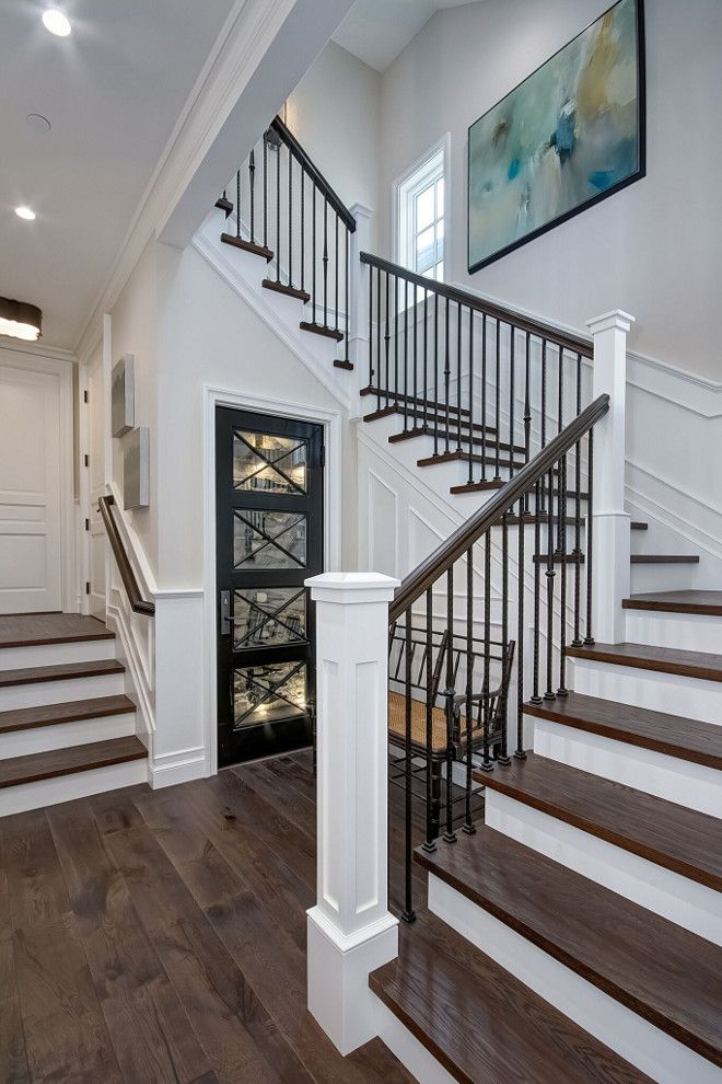 75 Most Popular Staircase Design Ideas For 2019: The Staircase Features White Oak Wood Treads And Custom