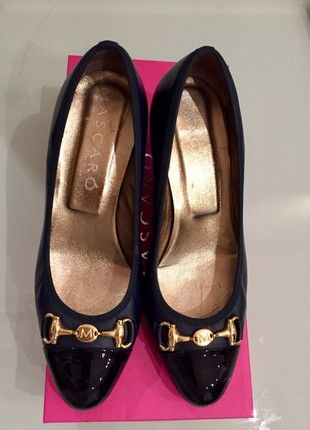 Escarpins en cuir noir bleu Mascarò   Chaussures femmes talons ... 8cc58f972227