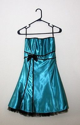 Teal Size 3 cocktail dress Jessica McClintock For Gunne Sax