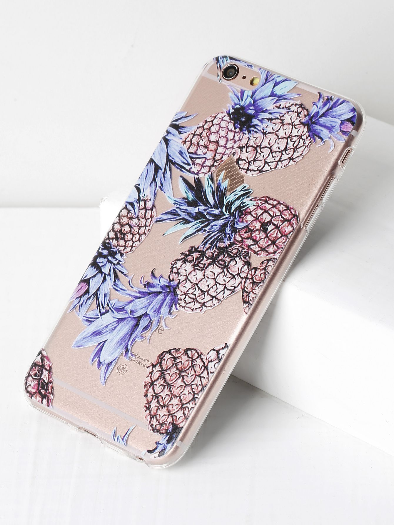 6f91584e80 Shop Pineapple Print Soft iPhone 6 Plus/6s Plus Case online. SheIn offers  Pineapple Print Soft iPhone 6 Plus/6s Plus Case & more to fit your  fashionable ...