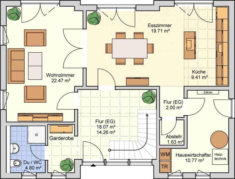 Grundriss einfamilienhaus modern gerade treppe  95 besten Architektur Bilder auf Pinterest | Traumhaus, Wohnen und ...