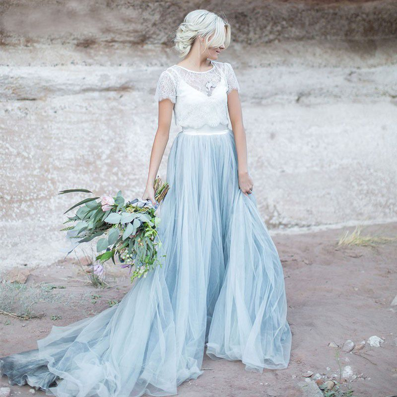 Find More Wedding Dresses Information about Colored Boho Wedding ...