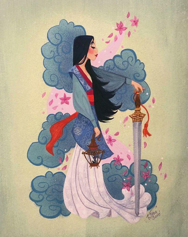 Mulan Art from Neysa Bové Disney art, Disney drawings